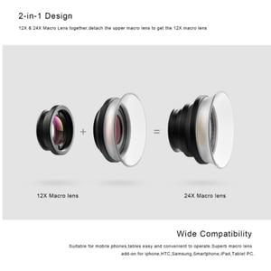 Image 3 - APEXEL Universal Macro Photography Lenses 12 24X Super Macro Lens for iPhone Mobile Phone Camera Lens for Samsung Xiaomi