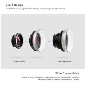 Image 3 - APEXEL Universal Makrofotografie Linsen 12 24X Super Makro objektiv für iPhone Handy kamera objektiv für Samsung Xiaomi