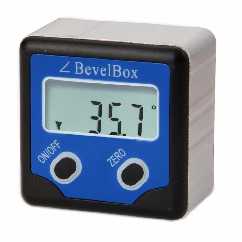 Étanche Numérique Bevel Box Gauge Angle Rapporteur Inclinomètre avec 3 Forte Disque Aimant 0.1 degrés Précision