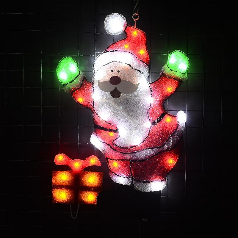 24V festival lights EVA Santa clause - 21 in. Tall decoration home christmas light garden decor party lights navidad 2018