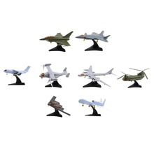 8pcs/set 1:165 Mini Aircraft Model Assembling TU-95 CH-47 EF-2000 V-22 J-20 RQ-4A Y-20 B-2 Famous Airplane Collection