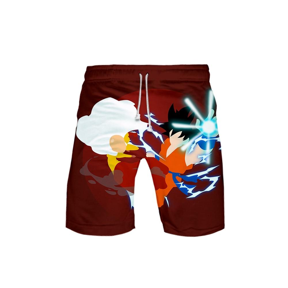 New Style of 3D DRAGON BALL print Summer Mens Recreational style shorts Leisure HIP HOP Harajuku Beach Shorts
