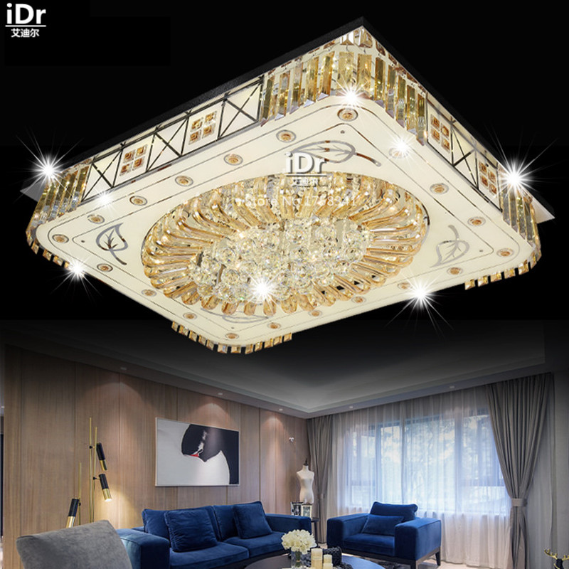 rectangular living room lamp square led crystal lamp living room lamps decoration ceiling lights 90 cheap ceiling lighting