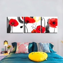 3 Pieces Canvas Photo Prints Abstract flower Wall Decorations Art Picture Paintings