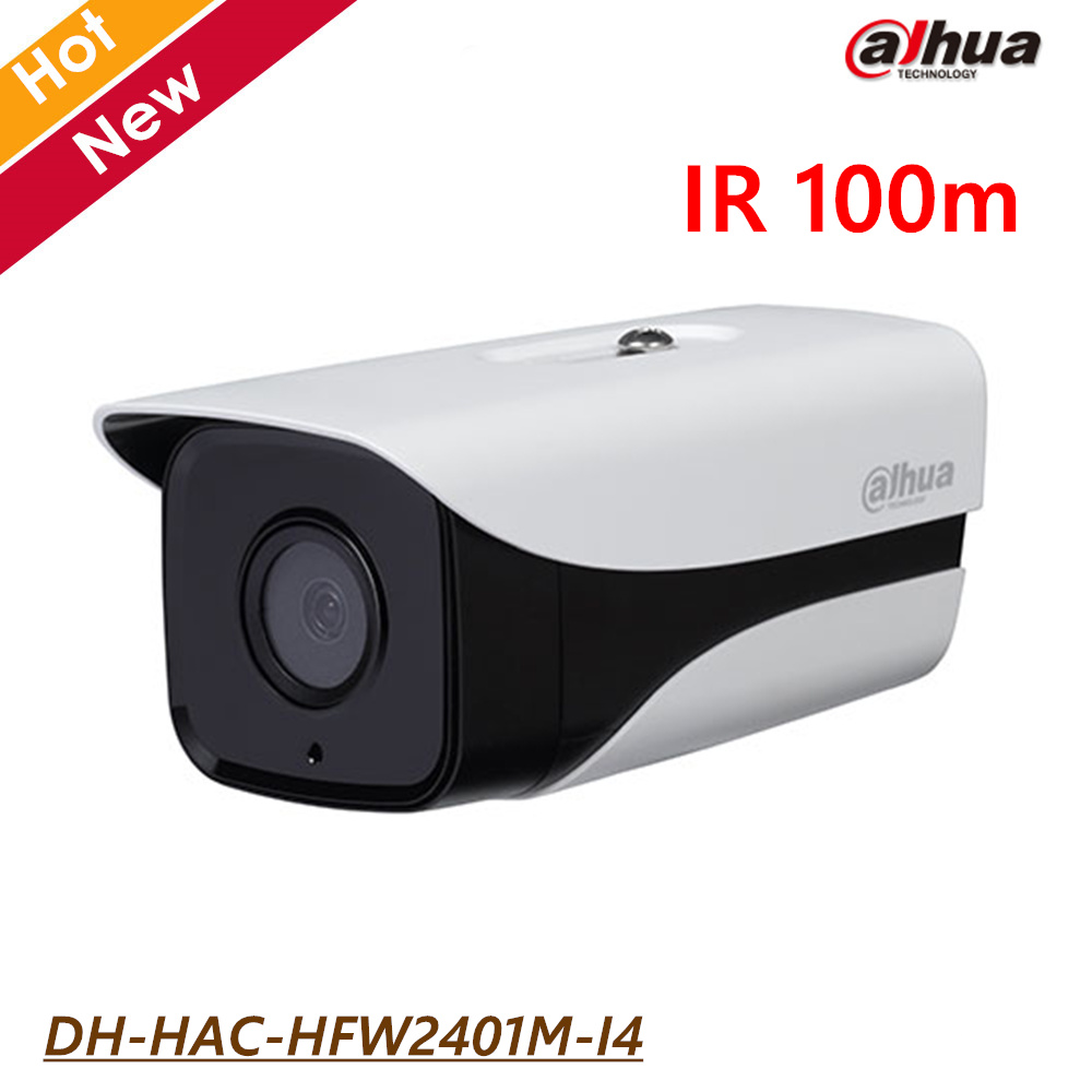 4MP Dahua HDCVI Camera DH-HAC-HFW2401M-I4 IR 100m Waterproof IP67 for Outdoor use CCTV Security Camera Free shipping dh hac hfw2221r z ire6 dahua original hd 1080p infrared night vision security camera ip67 audio cctv camera hac hfw2221r z ire6