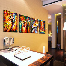 4 piece Gift Unframed Paulette Knife Paint modern abstract canvas prints picture wall art painting for living room decoration