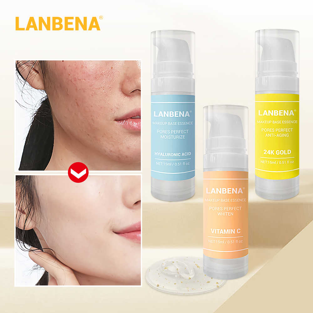 LANBENA Makeup Base Serum Primer Makeup Face Essence Shrink Pores Moisturizing And Oil-Control Brighten Face Cosmetic Skin Care