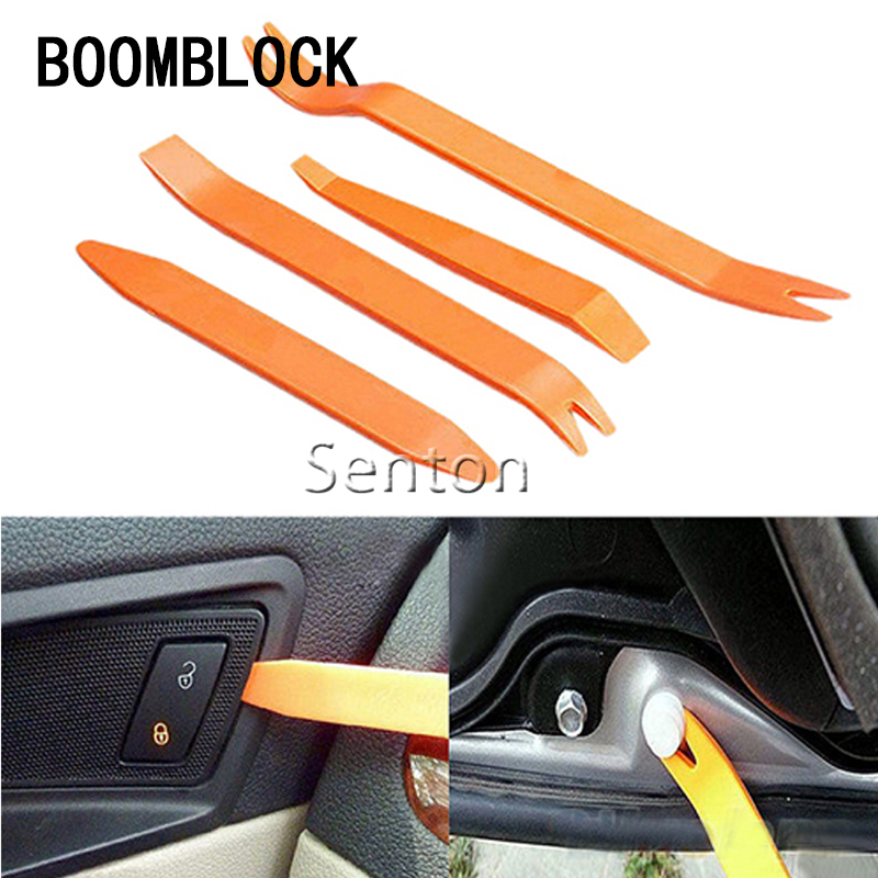 BOOMBLOCK 4pcs/set Car Removal Instal Tool Accessories For Audi A4 A3 A6 C6 B7 B8 B5 Q5 Seat Leon Ibiza Skoda Fabia Yeti Superb