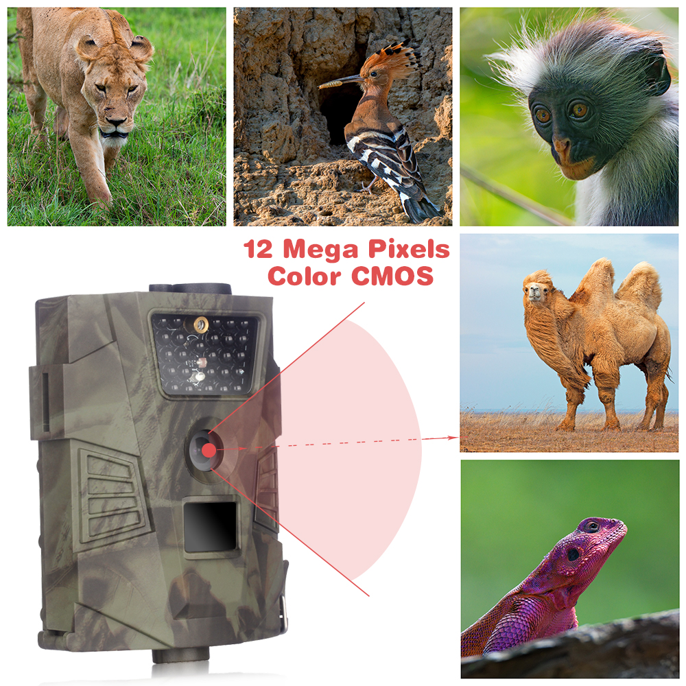 Hunting Camera HT-001 940NM 12MP Infrared Night Vision Outdoor Wildlife Trail Cameras Trap NO LCD Screen hunting camera 940nm 12mp photo traps infrared night vision motion detection outdoor wildlife trail cameras trap no lcd screen