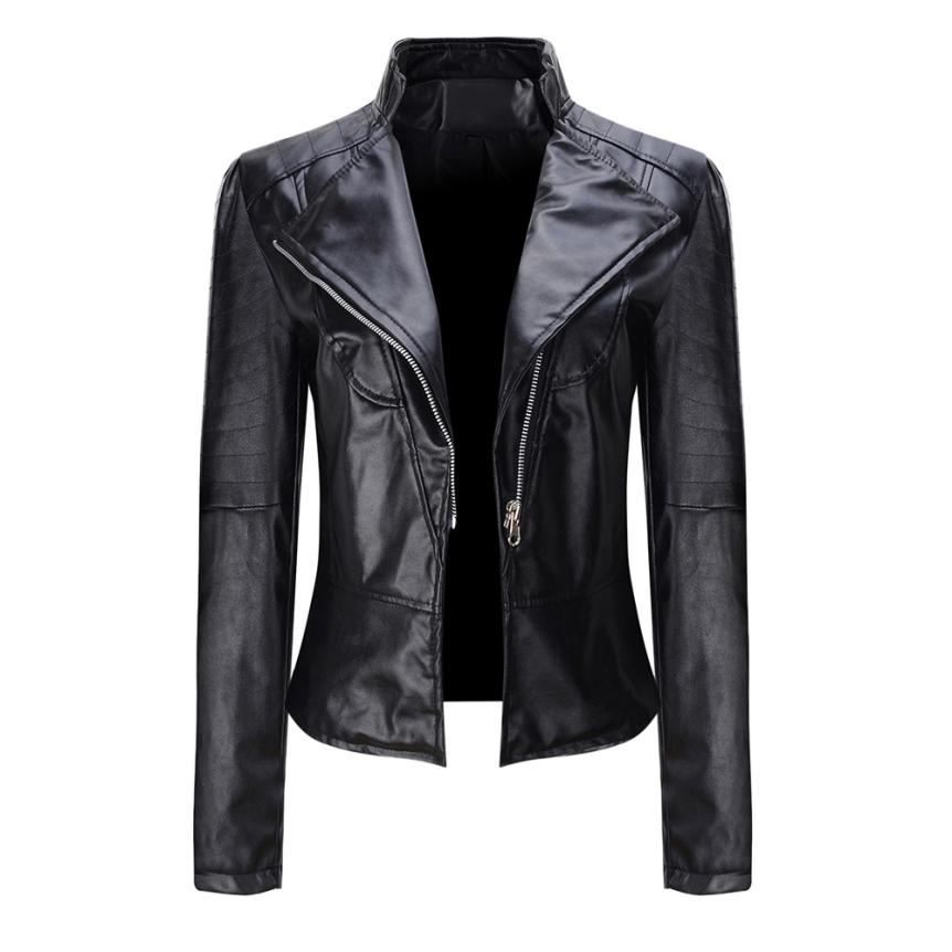 2019 Women's Fur Coat Women's Stand Ccollar Short Design Genuine   Leather   Coat Female Jacket   Leather   Clothing Mulheres jaqueta
