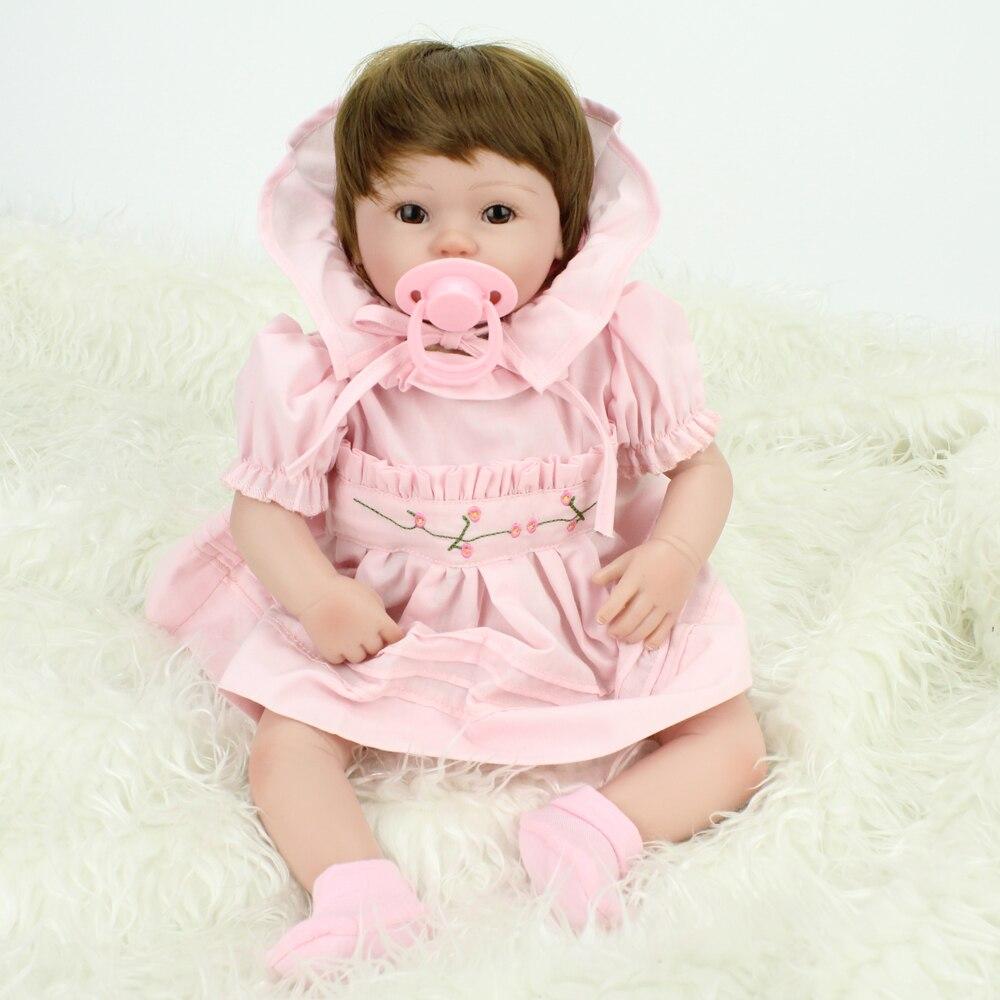 Nouveauté 40 cm fait à la main reborn Lifestyle poupées reborn bébé jouets silicone 16 pouces poupée en 2019 NPKDOLL