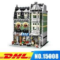 DHL More Stock 2462Pcs LEPIN 15008 City Street Green Grocer Model Building Blocks Bricks Intelligence Toys