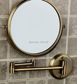 "Free shipping 8"" Double Side Bathroom Folding Mirror Antique bronze Wall Mounted Extend with Dual Arm 1x3x Magnifying"