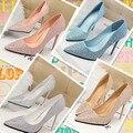 2015 женская обувь новое прибытие тонкие каблуки туфли на высоком каблуке женские сандалии свадебные туфли горный хрусталь свадебные туфли