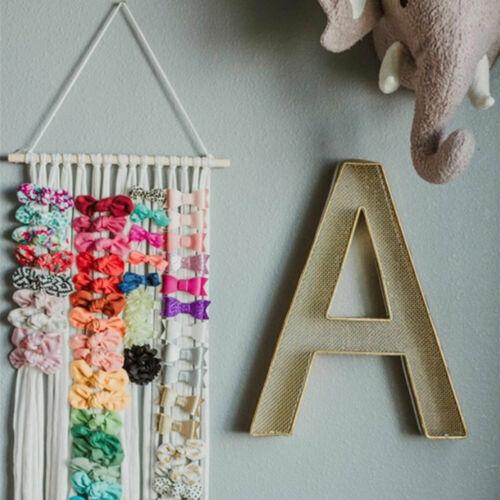 8 Colors Girls/' Hair Bows Storage Belt Barrette Hairband Hair Accessories Holder