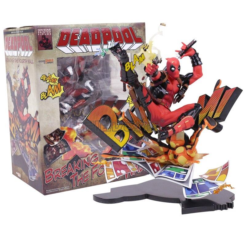Marvel Deadpool Le Quatrième Mur Figure Complète Modèle Jouet 20 cm