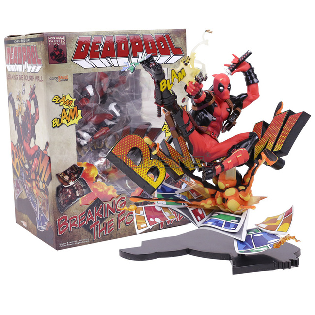 Marvel Deadpool rompiendo la cuarta pared figura completa modelo de ...