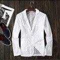 S-6XL 2016 Новый быстросохнущие тонкий белый весной и летом мужские костюмы личности солнцезащитный крем одежда небольшой пиджак