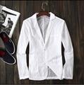 S-6XL 2016 Nuevos de secado rápido blanco trajes de primavera y verano de los hombres de la personalidad delgada chaqueta pequeño traje ropa de protección solar