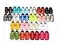 5 tamaños Niñas borlas de Cuero Genuino Zapatos Mocasines Toddler Primer Caminante Soft Moccs bebé Recién Nacido Lindo Zapatos del Pesebre Bebe Sneakers