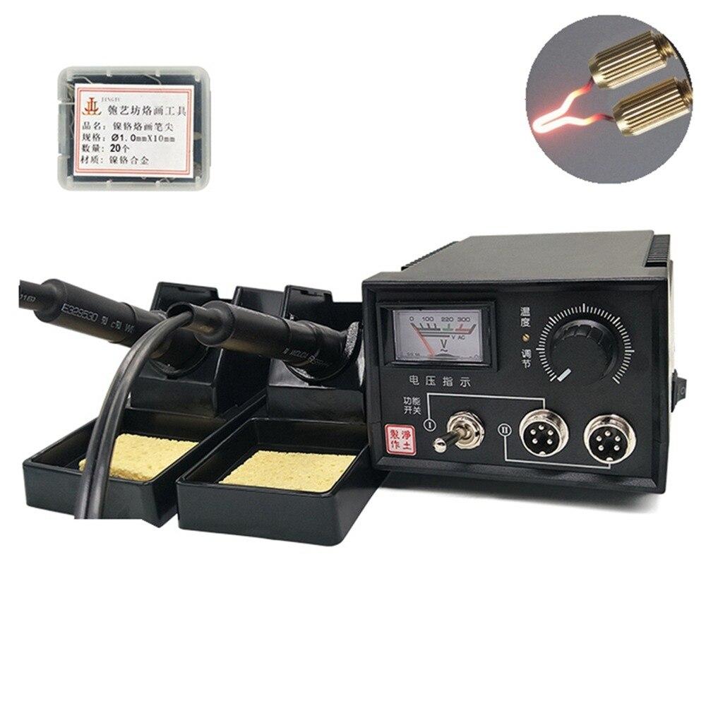 60 W 110 V/220 V Numérique Multifonction Pyrogravure Machine US/UK/EU Plug avec Pyrogravure Stylo la Combustion du bois Stylo Artisanat Outil Kit Ensembles
