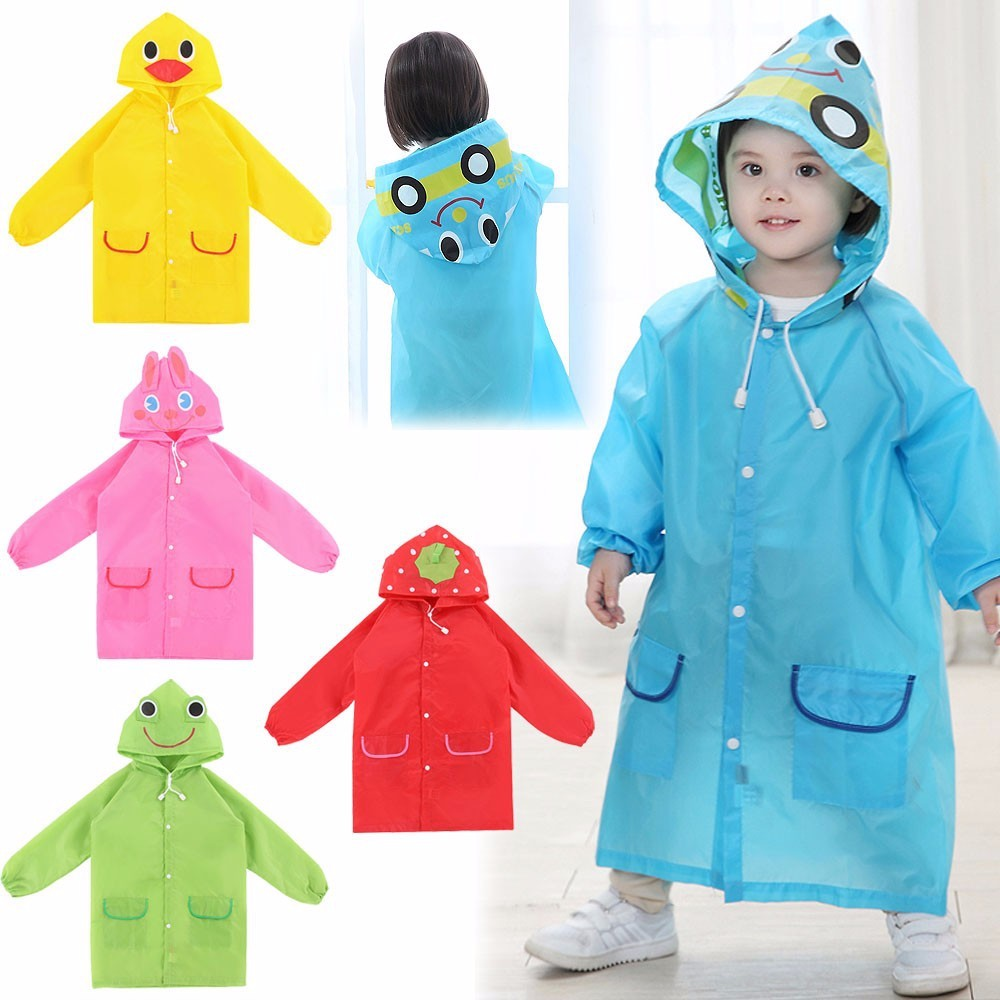 1Pcs Cartoon Animal Style Waterproof Kids Raincoat For Children Rain Coat Rainwear Rainsuit Student Animal Style Raincoat