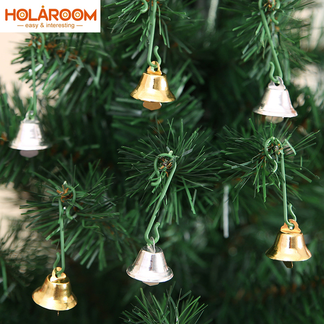 30pcs Xmas Small Bell Metal Bells Christmas Tree Ornaments Decoration Pendants Party Wedding Decorations