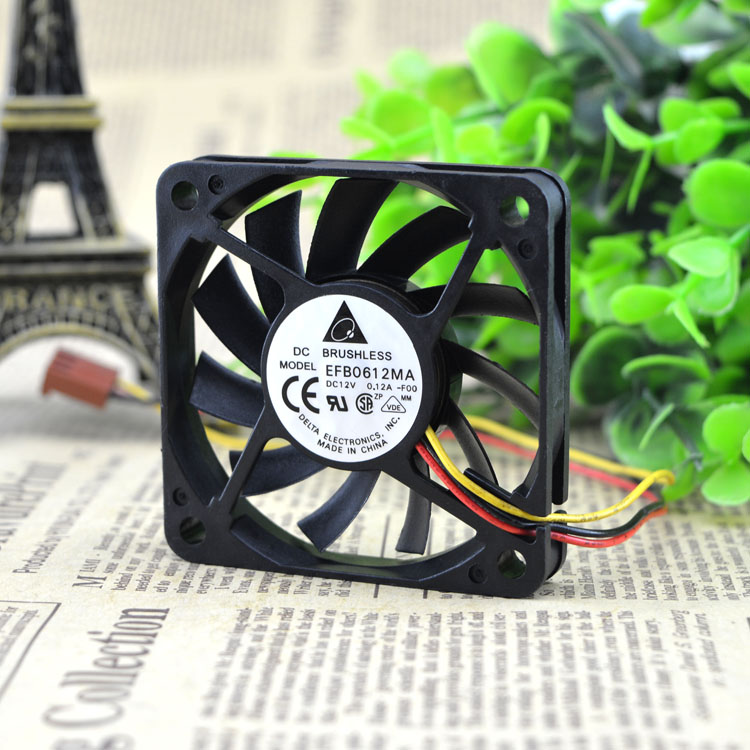 Free Delivery. 6 cm * 60 * 60 10 12 v 0.12 A EFB0612MA 6010 cooling fan free shipping y s tech 6cm 60 60 10mm 6 6 1cm 6010 fd126010hb 12v 0 24a 3wire cooling fan