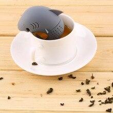 PREUP Silicone Shark Tea Infuser Loose Tea Leaf Strainer Floating Filter Basket Loose Tea Leaf Balls Herbal Spice Coffee Tool