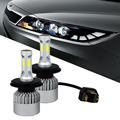 Autotek Apenas Plug & Play SUV bombillas de Alta Potencia 12 V 24 V 72 W 8000LM 6500 K Blanco Amarillo Fichas COB Fuente de Luz de Coche Auto faro