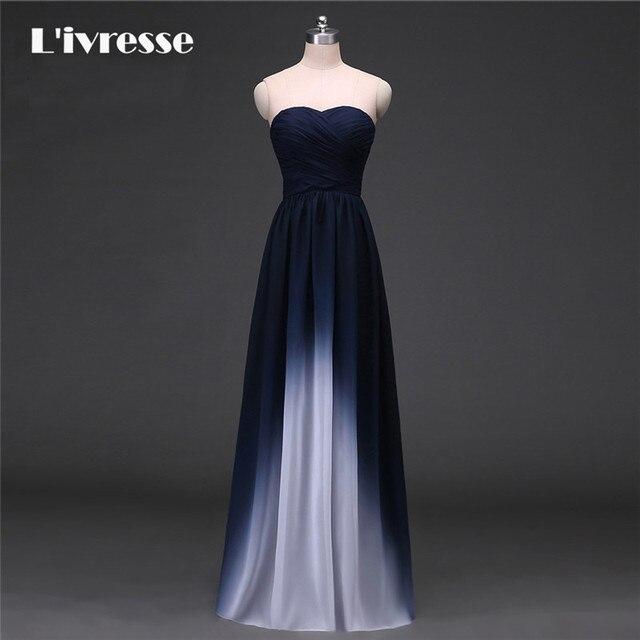 New Arrival Gradient Chiffon Prom Dress Evening Dress