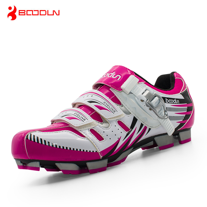 Boodun Professional Cycling MTB Bike Racing Shoes Women Bicycle Self-Locking Shoes Breathable MTB Shoes Ciclismo professional bicycle cycling shoes mountains bike racing athletic shoes breathable mtb self locking shoes ciclismo zapatos