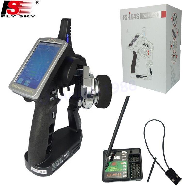 Flysky FS-iT4S 2.4 GHz AFHDS 2 4CH pistolet RC système d'autoradio écran tactile émetteur contrôle iT4S PK FS iT4 émetteur