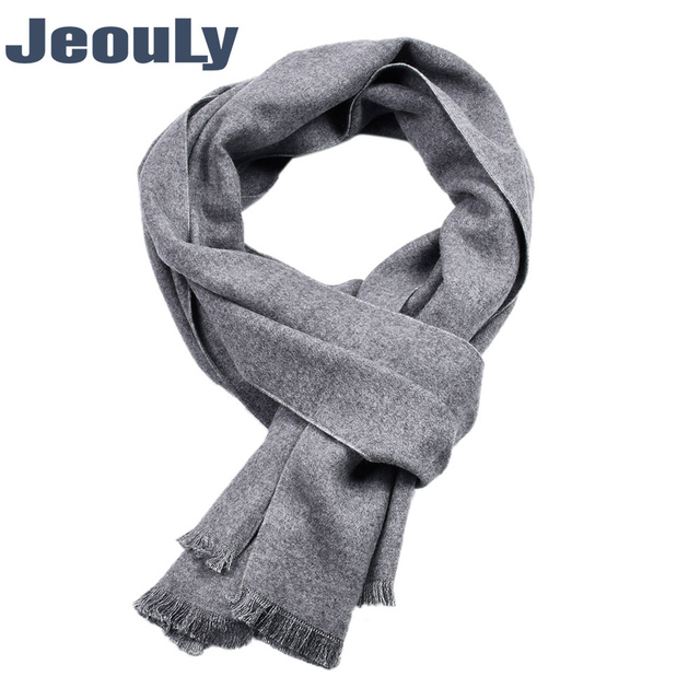 8c0a1833f57 US $12.91 24% OFF|JeouLy Winter Scarf Men Wholesale plain Brand Warm Soft  Bufandas Cachecol solid Cotton Scarves Formal Business Male Scarf -in Men's  ...