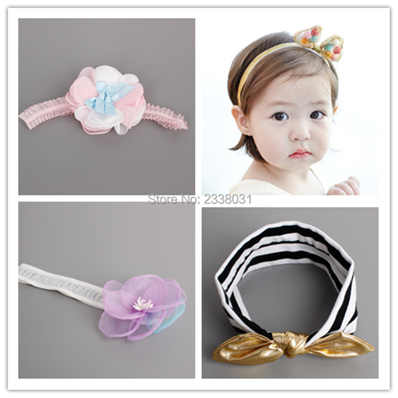 New Korea Cool Summer Lace Flower Kids Headband Colorful Ball Rabbit - Apparel Accessories