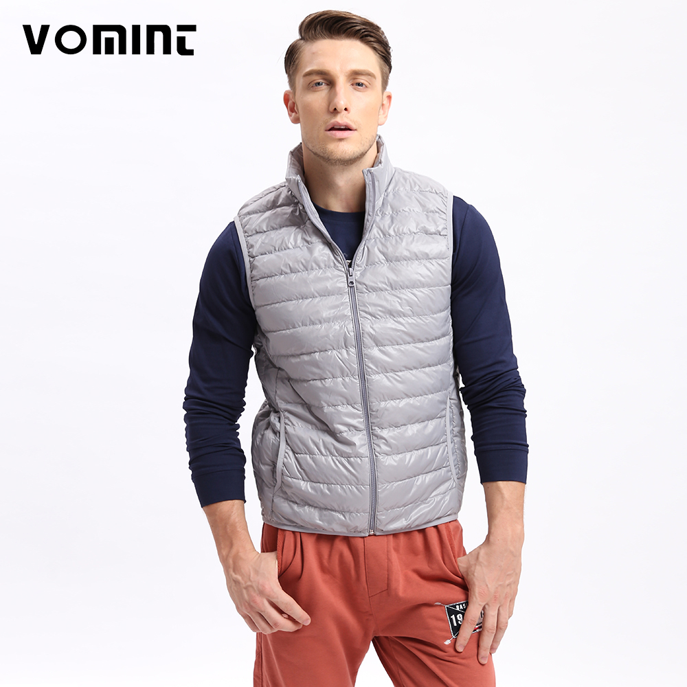 Vomint Mens Down Coat Vest Jacket Winter Light 80% Down Vest Short Slim Down Men Vest Jackets U6QI9025 (Asia Size,See Size)