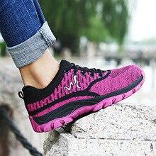 เหล็กความปลอดภัยรองเท้าผู้หญิง Breathable ตาข่ายอุตสาหกรรม & ก่อสร้าง Puncture Proof รองเท้าทำงานรองเท้าป้องกัน
