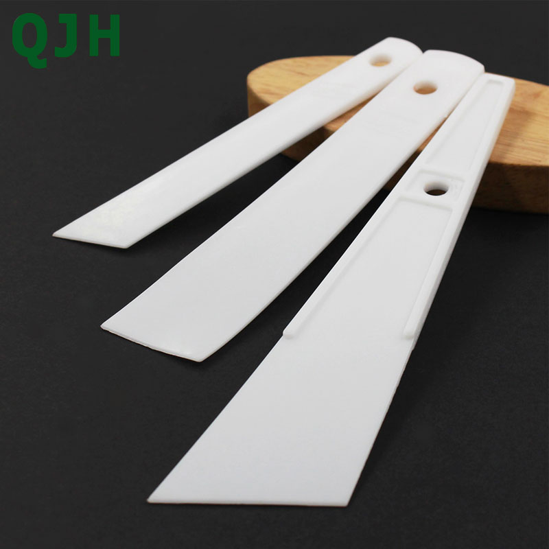 White Plastic Cow Leather Scraper DIY Handmade Sewing Leather Crafts Tool Apply Glue Sheet Gumming Glue Gluing Carving Stitching