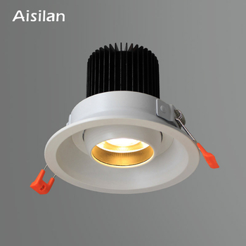 Aisilan Recessed LED Downlight Angle Adjustable Built-in LED Spot light Encastrable AC90-260V White 7W  for Indoor Lighting