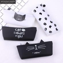Cat Pencil Case Silica Gel School Supplies Bts Stationery Gift  School Cute Pencil Box Pencilcase Pencil Bag School Tools Kawaii