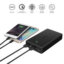 Power bank for Xiaomi, AUKEY Quick Charge 3.0 Power Bank 30000mAh Portable External Battery Fast Charger Powerbank for Samsung