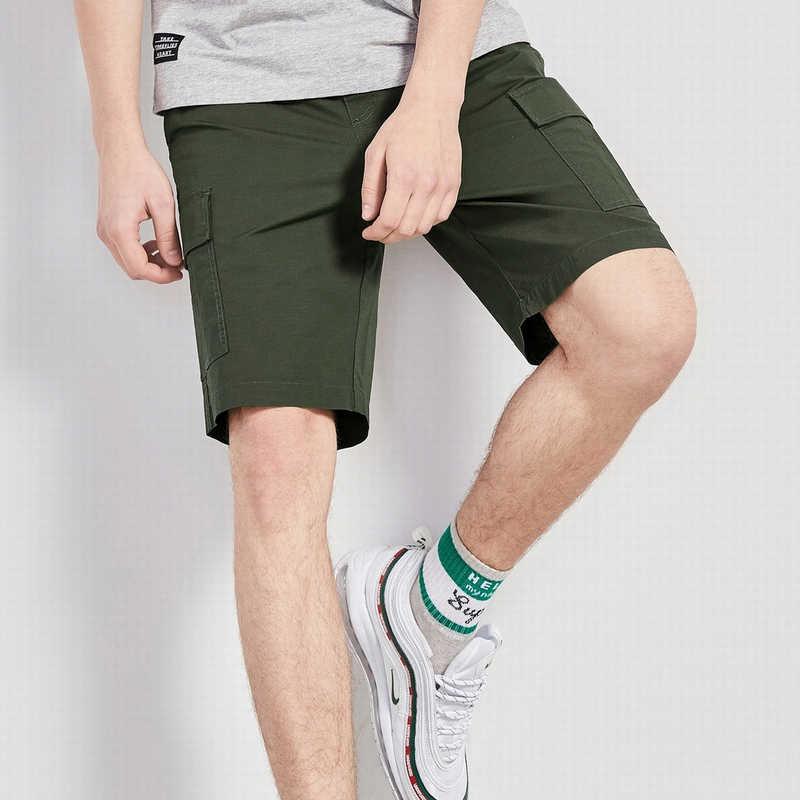 SEMIR กางเกงขาสั้นสินค้าผู้ชายยุทธวิธีสั้นยี่ห้อ Mens Casual กางเกงขาสั้น PLUS ขนาดฤดูร้อน Baggy กางเกงขาสั้นทหาร Zipper