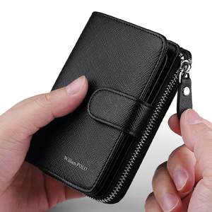 Image 5 - WILLIAMPOLO Man Walet Genuine Leather Hasp Closure Card Holder Small Bag With Gift Box for Men Card Wallet Mens Wallet PL319