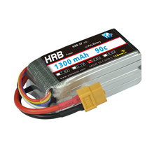 HRB FPV Racing 1S 4S 6S 3.7V 14.8V 22.2V 1300mAh 90C 180C Drone AKKU RC CAR For Helicopters Plate Airplane DIY Quadcopter