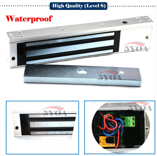 12V Electronic Lock Waterproof Electric Magnetic Door 280kg 600lbs Holding Force Electromagnetic Level 8 M280WP  sc 1 st  AliExpress.com & 12V Electronic Lock Waterproof Electric Magnetic Door 280kg 600lbs ...