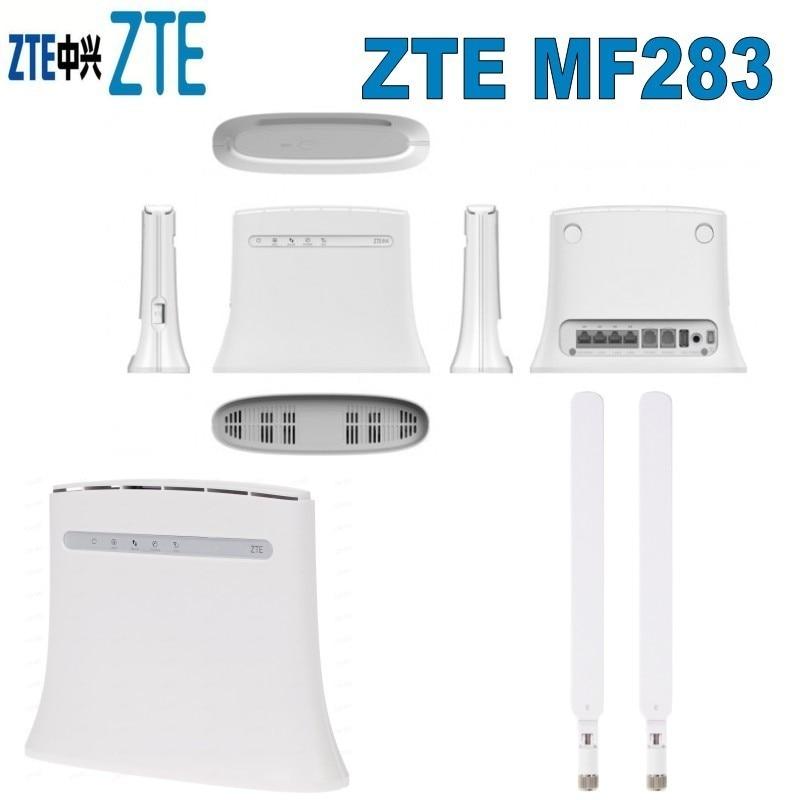 Lot of 10pcs Original ZTE MF283 Unlock 100mbps 4G LTE Mobile Wifi Router plus 2pcs 4g SMA antenna 10pcs lot sen013dg original