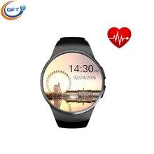 GFT KW18 mode smart watch sim männer business smartwatch unterstützung 16G tf karte mit pulsmesser und Passometer MTK2502C CPU