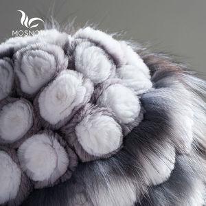 Image 5 - Womens Genuine Mink Fur Hat Female Winter Rex Rabbit Rose Flower Elegant Luxury 2019 Warm Knitted Hats Skullies Beanies