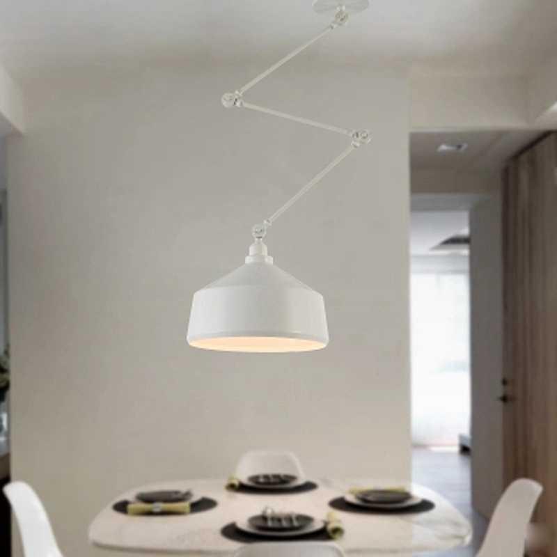 Nordic DIY личность подвесные светильники складной Утюг светильник подвесной светильник Спальня исследование бар ресторан творческий Регулируемая подсветка