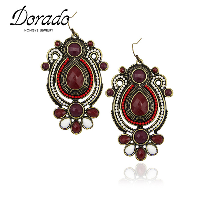 aliexpress buy dorado new arrival classic vintage colorful resin deco statement drop